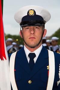 Member of the color guard (U.S. Coast Guard)