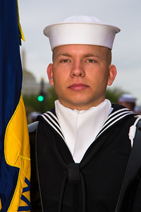 Member of the color guard (U.S. Navy)