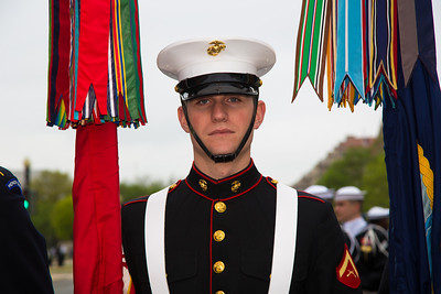 Member of the color guard (U.S. Marine)