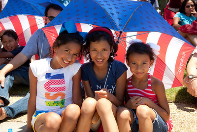 Enjoying the parade - Alexandria, Bianca and  Victoria Gonzalez of Houston Texas
