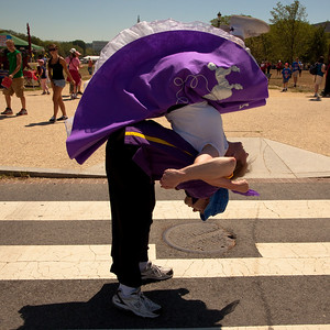 Valerie Pyle (Warrenton, Va.) and David Engler (Fairfax VA) do the Lindy Hop on the National Mall.