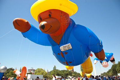 Paddington Bear floats over the July 4 Parade in DC