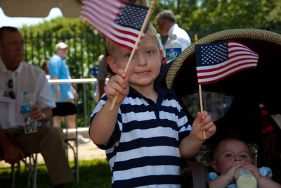 Devon Workman (age 4 from Spotsylvania, AV) - father is wounded marine