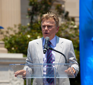"""Wheel of Fortune"" host Pat Sajak"