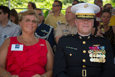 Marine Brigadier General Mark R. Wise and Mrs. Wise, Commander United States Marine Corps Warfighting Laboratory
