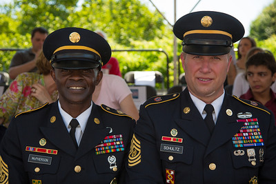 Command Sergeant Major Bernard C. McPherson, CSM of Program Executive Office (PEO) Soldier Command Sergeant Major Michael D. Schultz, the 11th Command Sergeant Major of the Army Reserve