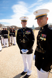 Marine Captains Dan Young and Scott MacDonald (Marine Marching Platoon)