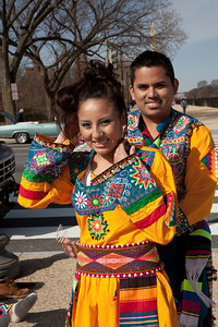 Mariel Jaldin and Pako Gomez of Tinkus San Simon Bolivian Dance