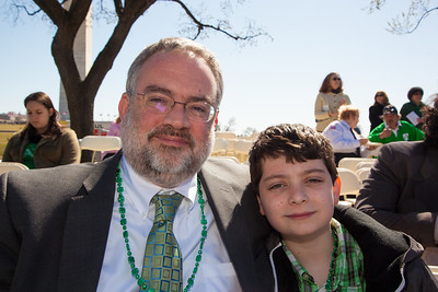 Kevin Conmy, Deputy Chief of Mission, Embassey of Ireland, and son Eoin