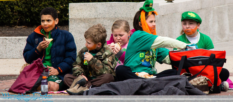 Kids waiting for the parade to start
