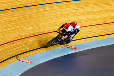 Visually impaired tandem - team GB who claimed the silver