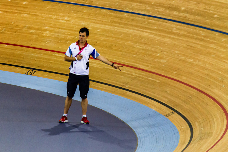 The team GB coaches were very restrained compared to other coaches (see later photos) limiting themselves to subtle hand gestures.