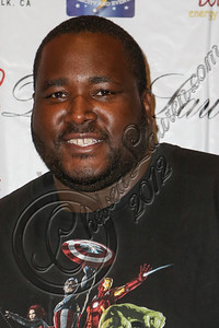 "LOS ANGELES, CA - JULY 29:  Actor Quinton Aaron attends the ""Paranormal Movie"" wrap party at The Writer's Room on July 29, 2012 in Los Angeles, California.  (Photo by Chelsea Lauren/WireImage)"