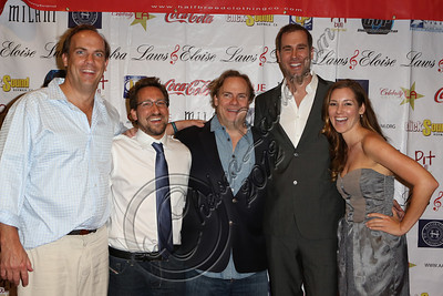 "LOS ANGELES, CA - JULY 29:  (L-R) Actor John Farley, producer Benjamin Scott, director Kevin Farley, producer Jacob Silver and actress Carly Craig attend the ""Paranormal Movie"" wrap party at The Writer's Room on July 29, 2012 in Los Angeles, California.  (Photo by Chelsea Lauren/WireImage)"