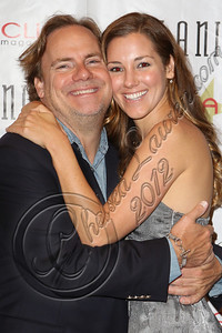 "LOS ANGELES, CA - JULY 29:  Director Kevin Farley (L) and actress Carly Craig attend the ""Paranormal Movie"" wrap party at The Writer's Room on July 29, 2012 in Los Angeles, California.  (Photo by Chelsea Lauren/WireImage)"
