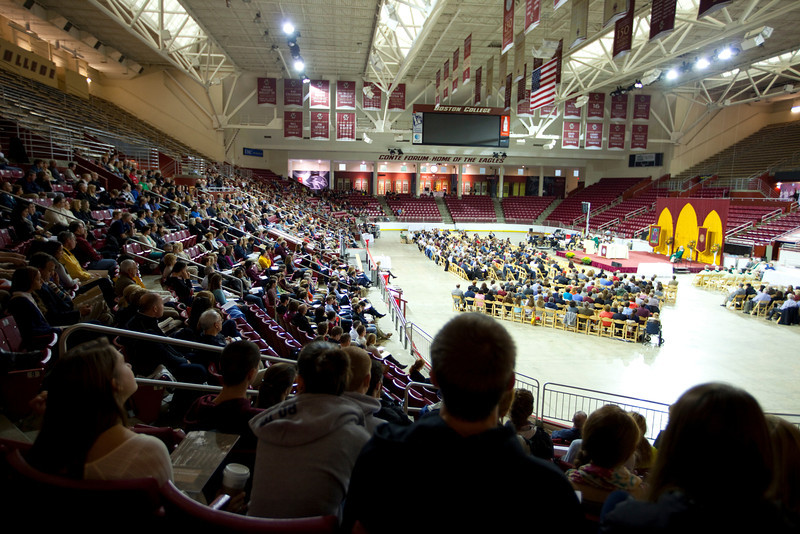 The Boston College Family Liturgy was held on Parents Weekend in Conte Forum at BC on Sunday, September 30, 2012.<br /> Rose Lincoln Photographer