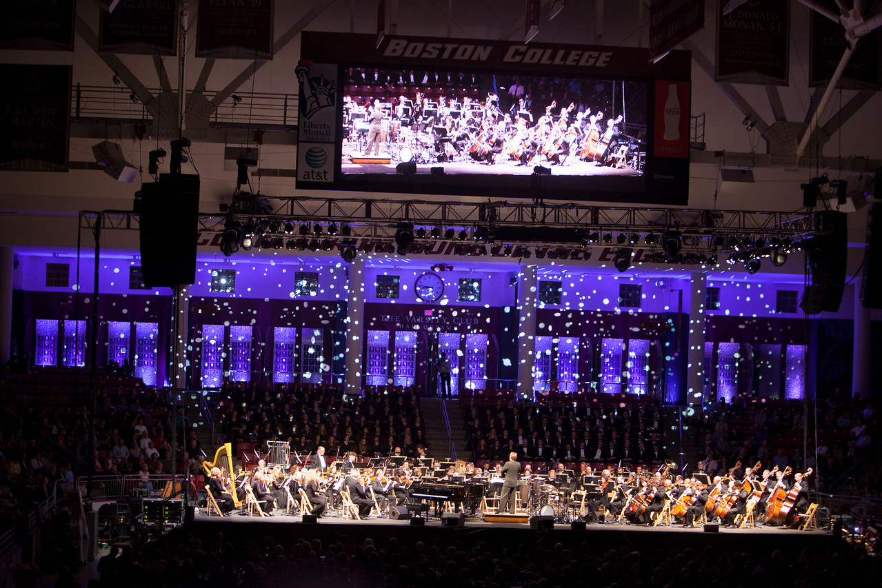 The Boston College Pops on the Heights on Parents Weekend was held in Conte Forum at BC on Friday, September 28, 2012.<br /> Rose Lincoln Photographer