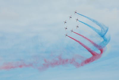 Patrouille de France aerobatic demonstration team, Paris Air Show 2015, Le Bourget, France