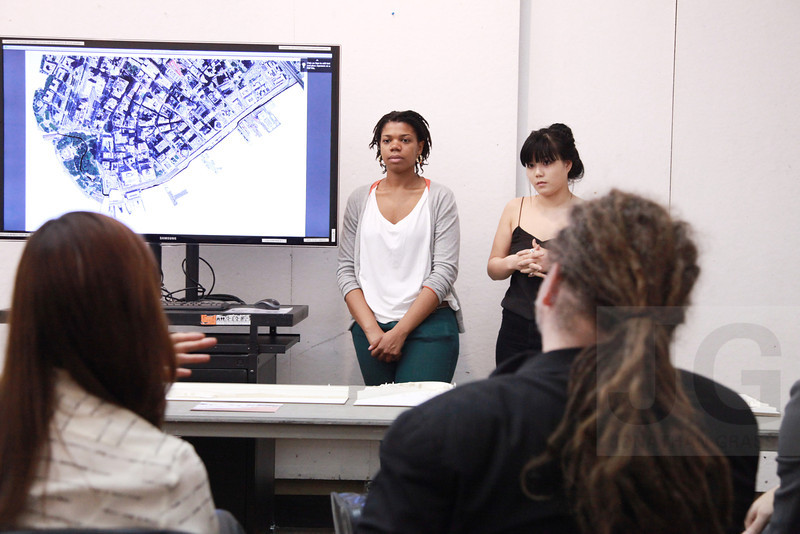 Graduate Architecture Studio Final Presentation for BIG Studio with Daniel Kidd and Bjarke Ingels<br /> Held at Parsons School Of Design<br /> New York City, USA - 12.05.13<br /> Credit: J Grassi