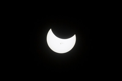 Partial Solar Eclipse 10-23-2014. Pleasanton, CA, USA