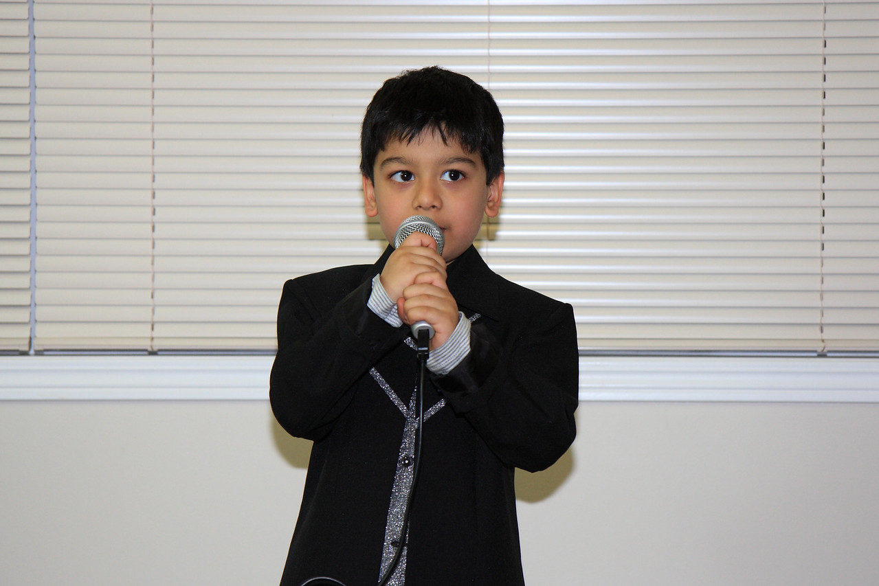 Sanidh singing Christmas / New Year Song