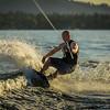 Big Bear Lake Sunset Wakeboarding-7