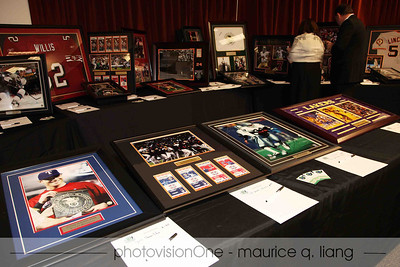 Sports memorabilia for auction.