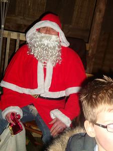 Santa eyes a pint.