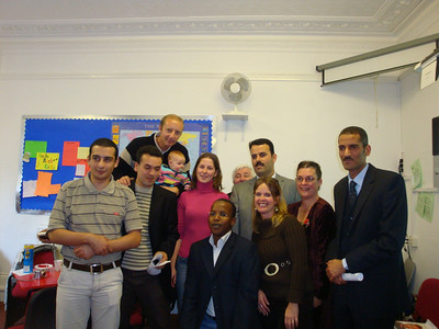Massoud, Emad, Ian & Isla, Justyna, Emad, Big John, Hakim, Nicky, Jane and Mahmood.