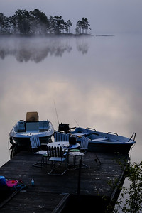 August morning by the lake