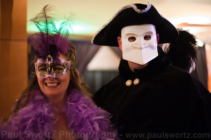Erin and her husband in costume.
