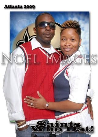 New Orleans Saint's Fans Party in Atlanta