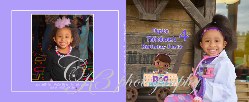 Custom Photo Memory Book - 4th Birthday Party