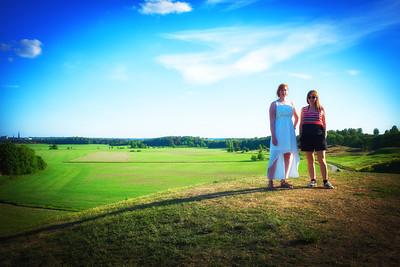 Alma, Robin och Freyja på Uppsalabesök 2013
