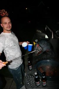 Scott burned the meat!