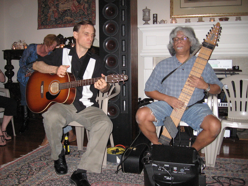 Bruce on guitar and Jim on the Chapman stick