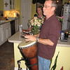 Peter on the djembe