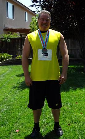 Pasadena Fitness Expo 5K Charity Run, Rose Bowl Stadium July 14, 2012