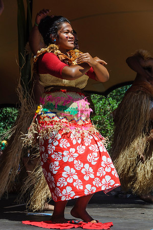 Fijian woman dancer on stage Pasifika Western Springs