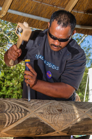 Samoan master carver in action Pasifika Swetern Springs
