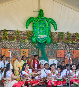 Tongan ensemble on stage Pasifika Western Springs