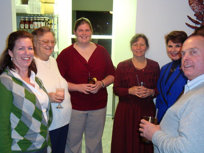 Claire Hill, Frieda Dale, Christina Dale, Mary Russell, Elaine Bailey, and Mike Russell (L to R)