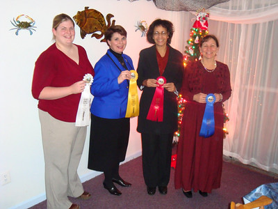 2008 High Score Awards (L to R)  Christina Dale, Elaine Bailey, Marilyn Jackson, Mary Russell