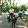 Cheryl, Getting Ready to Ride