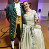 Patriots' Ball at Concord Armory. Lindsey Franklin, whose father is chair of the board of the Concord Museum, and her boyfriend Kevin Dillon, both of Somerville. (SUN/Julia Malakie)