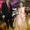 Patriots' Ball at Concord Armory. Ed Prewitt and his neighbor Jennifer Newbold, of Concord. (SUN/Julia Malakie)