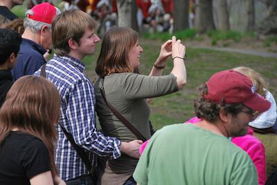 Spectators at the Tower Park Battle in Lexington
