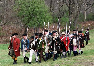 Colonial Militia Reenactors at the Tower Park Battle in Lexington