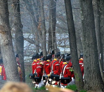British Troop Reenactors at the Tower Park Battle in Lexington