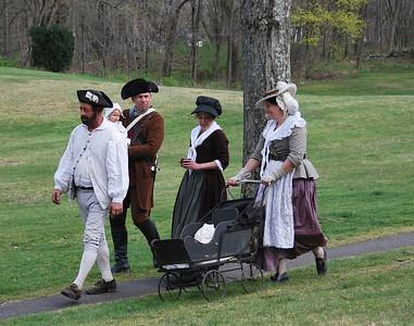 Colonial Reenactors at the Tower Park Battle in Lexington